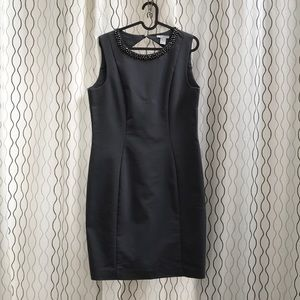 H&M Gray Embellished Dress Size 12